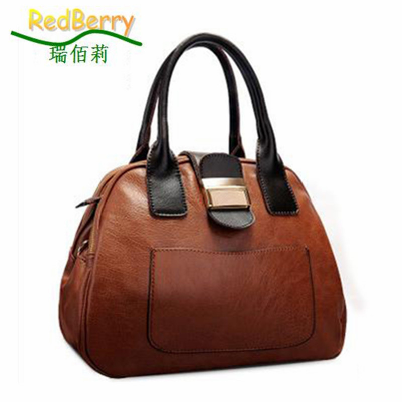 2015 women handbag fashion casual shoulder bag vintage women leather handbag hot tote trendy women messenger bags quality bolsas