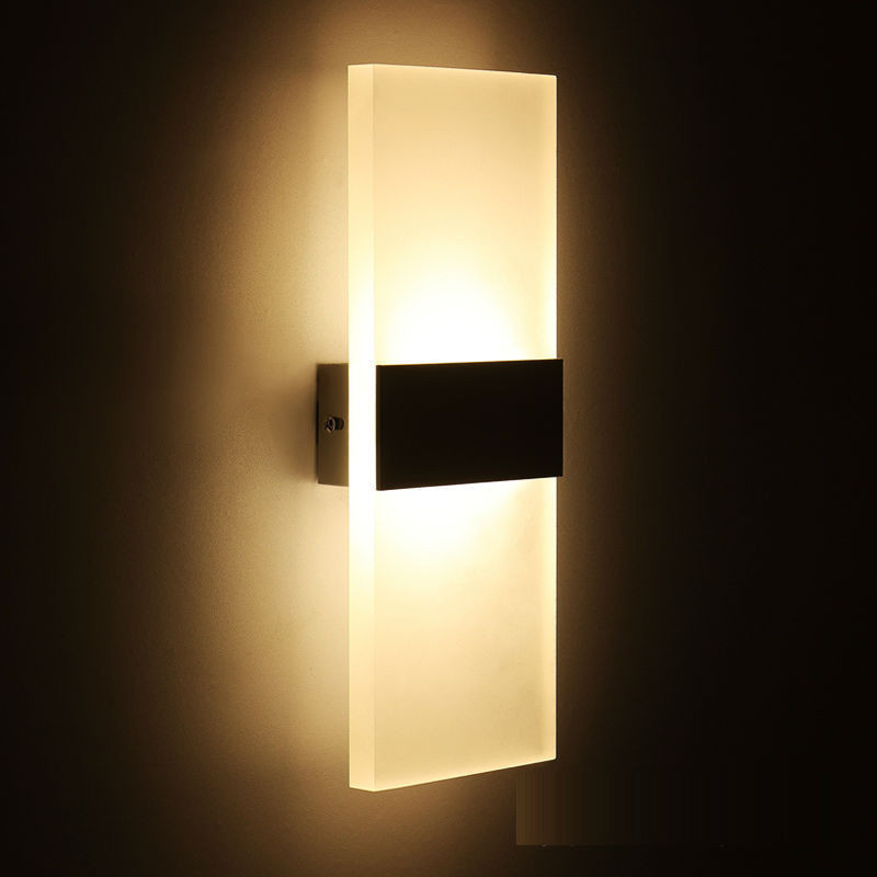 Mini Led Acrylic Wall Lamp Wall Mounted Bedroom Wall