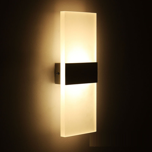Mini Led Acrylic Wall Lamp Mounted Bedroom Lights Living Room Stair Corridor Decorative Sconce