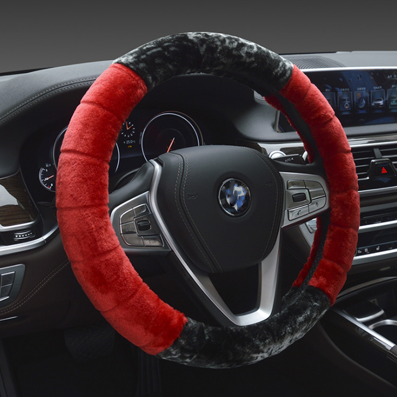 Universal Car Steering-Wheel Cover 38CM Car-styling Sport Auto Steering Wheel Covers Anti-Slip Automotive Accessories