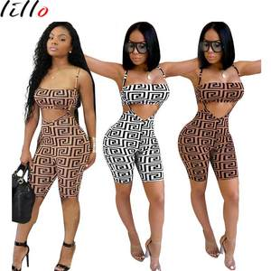 Free shipping 2018 new fashion casual suit African woman two-piece sexy strap shorts Tube top set Fashion sexy suit summer wild