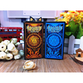 Yellow/Blue Mini Radiant Rider Waite Tarot Cards Chinese Version 78 PCS/SET Tarot Deck for Prediction Instruction Send by Email