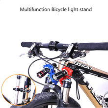 Favor Bicycle Light Bracket Bike Lamp Holder LED Torch Headlight Pump Stand Quick Release Mount 360 Degree Rotatable wholesale