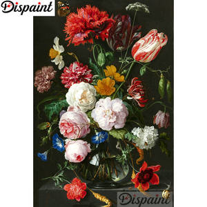 Dispaint 5D DIY Embroidery Flower Cross-Stitch Diamond Home-Decor Square/round-Drill