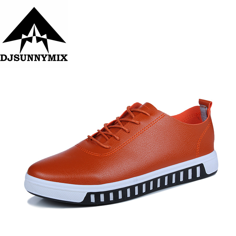 DJSUNNYMIX Brand 2017 New Spring autumn Fashion Men flat Shoes Casual Pu Leather Outdoor Oxfords Male Shoes