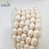 Natural White Freshwater Pearl Rice Shape Large Pearl Loose Beads About 12 15mm For DIY Jewelry