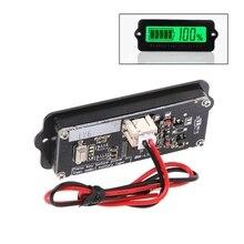 Blauw 12V LY6W Lood zuur Batterij Capaciteit Indicator Lcd Digit Display Meter Lithium Batterij Detector Tester Voltmeter