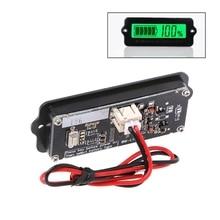 Blue 12V LY6W Lead Acid Battery Capacity Indicator LCD Digit Display Meter Lithium Battery Power Detector Tester Voltmeter