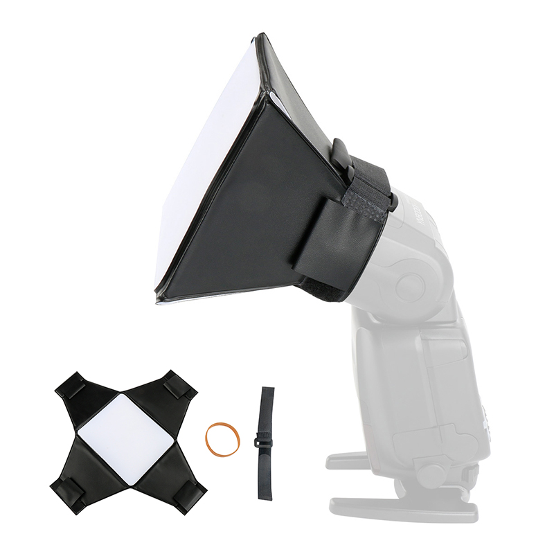 Universal Foldable Flash Diffuser Softbox for Canon 580EX/430EX/550EX/540EZ/420EX Yongnuo YN685 YN560IV YN600EX-RT II Speedlite цена