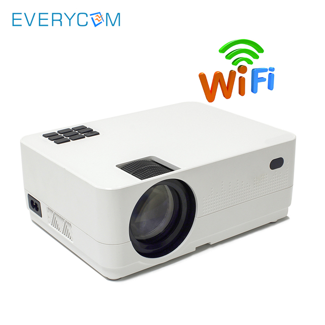 EverycomHQ3 HD LED Home theater Projector LCD WiFi Wireless Screen Mirroring Video Game Proyector Miracast Airplay DLNA Koala TV