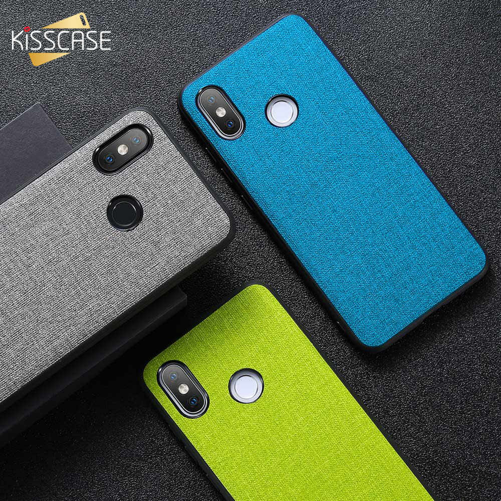 Funda KISSCASE para Xiaomi Redmi 6 6A Note 5 6 Pro Funda de cuero de tela Retro Para Xiaomi mi 9 Se 9 8 A1 A2 lite Pocophone F1