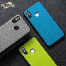 KISSCASE Fabric Cloth Texture Case For Xiaomi Redmi Note 8 7 6 Pro Pocophone F1 Mi 9 SE A1 A2 Lite 9T Redmi K20 Pro Cover Coque(China)