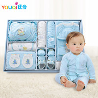 100% Quality Cotton Brand Newborn Baby Clothes 18 Pieces Gift Set Box Baby Girls Boys Presents Infant Clothing Set 3 M Romper