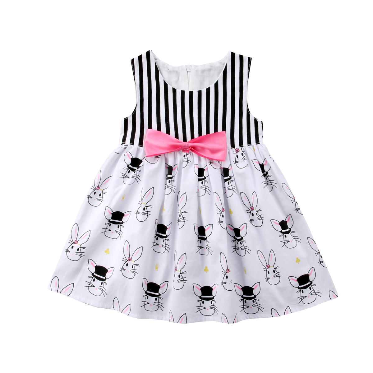 1-5Y Girls Summer Dress 2018 Brand Cartoon Bunny Cotton Baby Dress Princess Costume Children Vestidos Kids Dresses for Girls summer dresses for girls party dress 100% cotton summer cool and refreshing the harness green flowered dress 1 5years old
