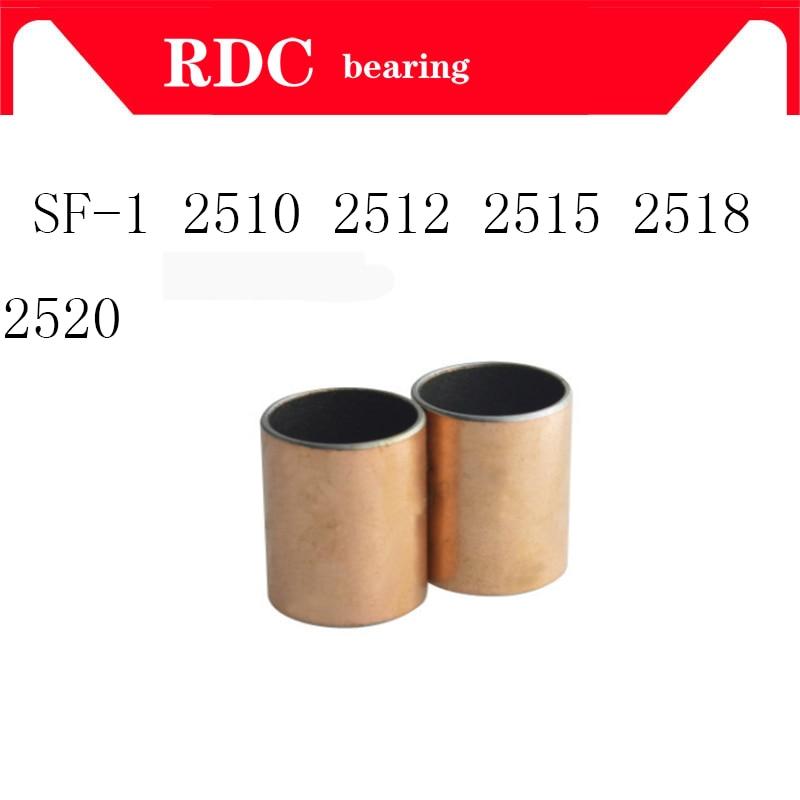 Buy Free shipping SF1 SF-1 2510 2512 2515 2518 2520 Self Lubricating Composite Bearing Bushing Sleeve 25 x 28 x 10 12 15 18 20mm