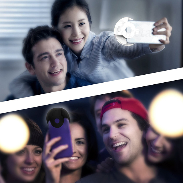 Roreta USB charge LED Selfie Ring Light for Iphone Supplementary Lighting Night Darkness Selfie Enhancing for phone Fill Light