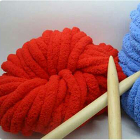 Wholesale 1 Balls Lot Natural Soft Thick Cashmere Blended Yarn For Knitting Hat Or Scarf Hair