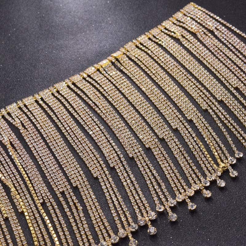 ... 16cm length tassel rhinestones women dress belt sash appliques trimming  luxury crystal sew on DIY bridal decorations on Aliexpress.com  0ce807a170a5
