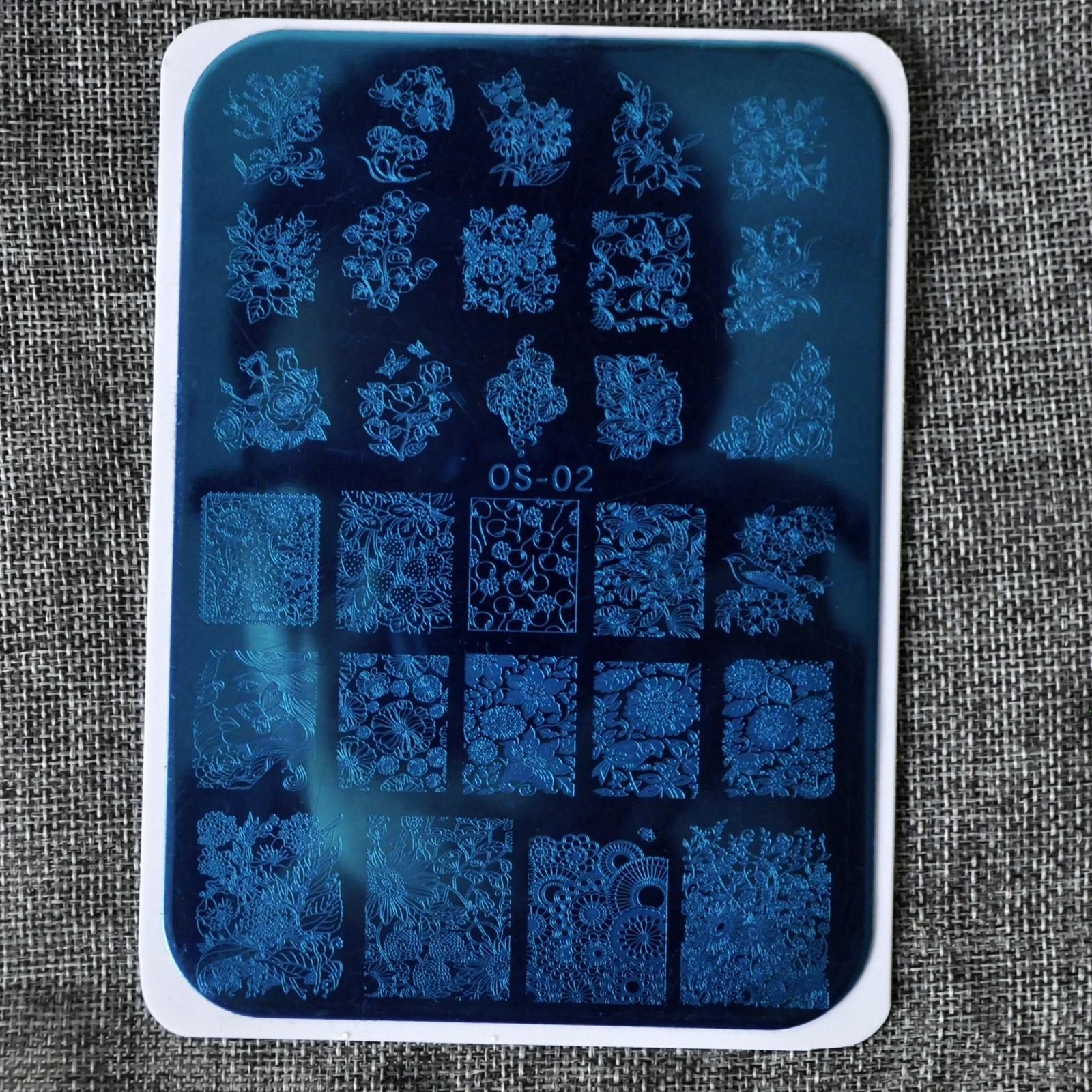 Viele Blume Schönheit Spitze Designs nail disk modenagelkunstbild ...