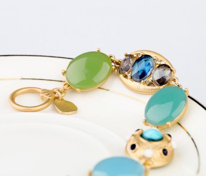 Novi Dolazak Nakit Shiny Gem Stone Visokokvalitetne narukvice u boji - Modni nakit - Foto 4