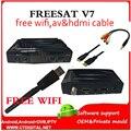 Freesat V7 20 pcs dhl + 20 pcs WIFI DVB-S2 HD receptor de satélite Youtube PowerVU CCa z5 mini Newca freesat v7 wi-fi