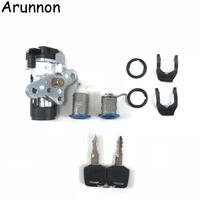 Arunnon Motorcycle Accessories Ignition Switch Lock Key FOR HONDA DIO ZX AF34/AF35/AF38 The New Ignition lock