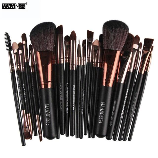 MAANGE 22 piezas pincel de maquillaje profesional Fundación de sombra de ojos cosméticos conjunto hacer neceser Kit de pincel, maquiagem
