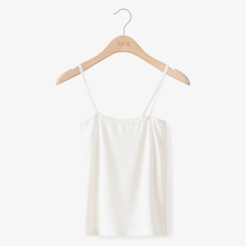 Sexy Women Tanks Camis 2018 Summer Solid Color Strap Tops Ladies Elastic Knitting Shirt Vest One Size Slim Black White Camisole in Camis from Women 39 s Clothing