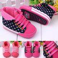Promoção 1 par tornozelo Da Menina Do Bebê Sapatos de Sola Macia Primeiros Caminhantes, crianças antiderrapante Sapatos, Super Qualidade Infantil/calçado Toddle