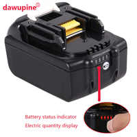 Dawupine Li-ion batterie boîtier en plastique charge Protection Circuit imprimé pour MAKITA 18 V BL1850 3.0Ah 5.0Ah LED indicateur de batterie
