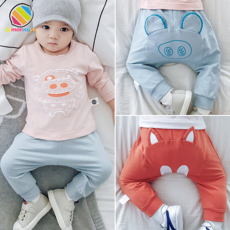 Lemonmiyu Leggings Newborn Baby-Girl Pants Harem Cotton Casual Cartoon Spring Elastic
