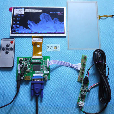 7 Raspberry Pi LCD Touch Screen Display TFT Monitor AT070TN90 with Touchscreen Kit HDMI VGA Input Driver Board