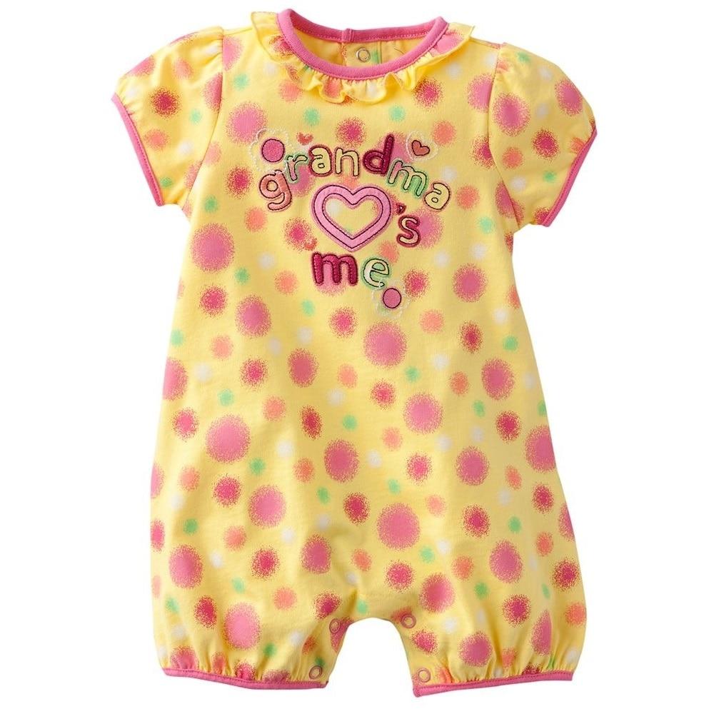 Fashion Baby Girls Romper Shortalls Orange Grandma LOVE me ...