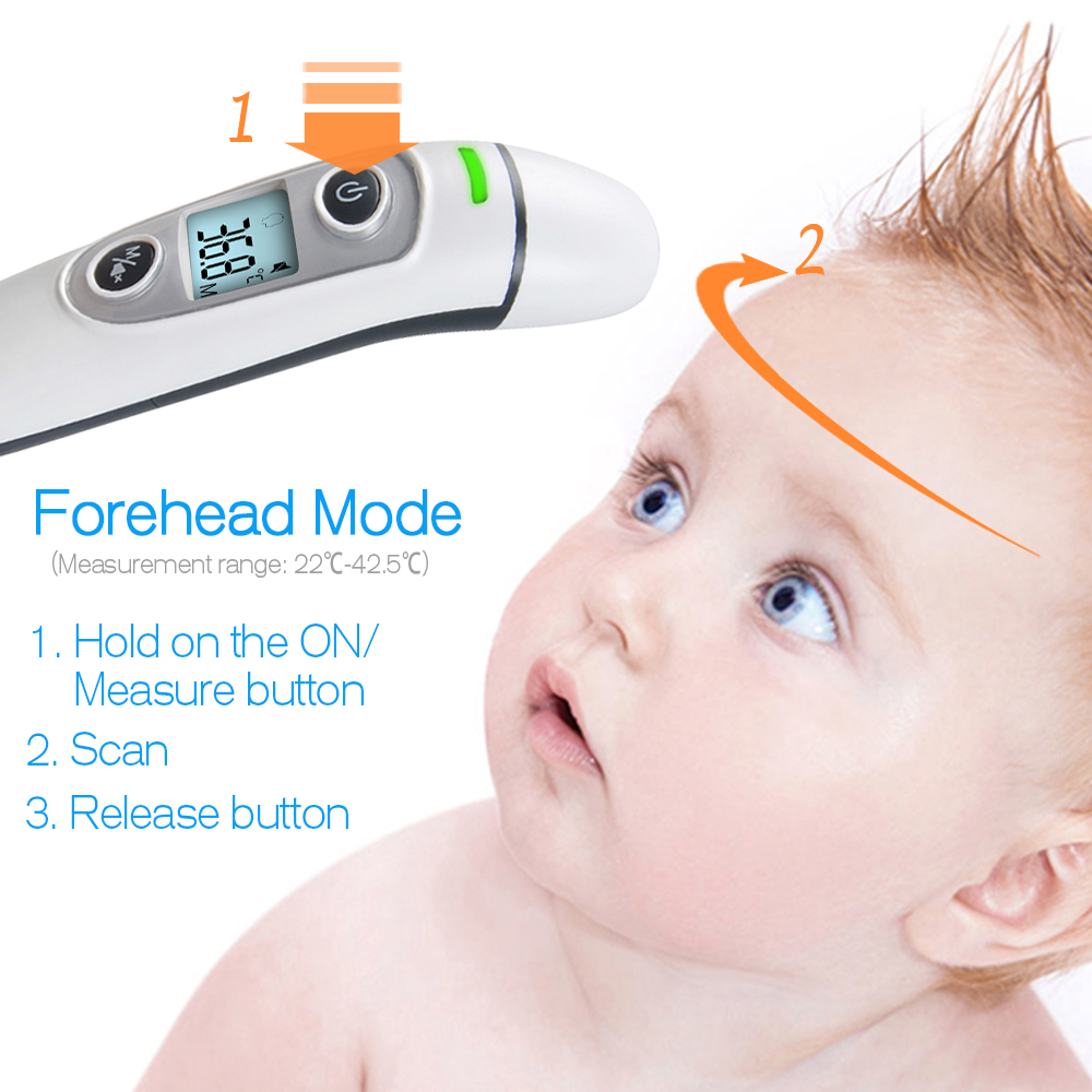 Image 3 - ELERA New Baby Thermometer Digital Infrared  IR LCD Baby Forehead  and Ear Non Contact Adult Body Fever Measurement  TermometroThermometers