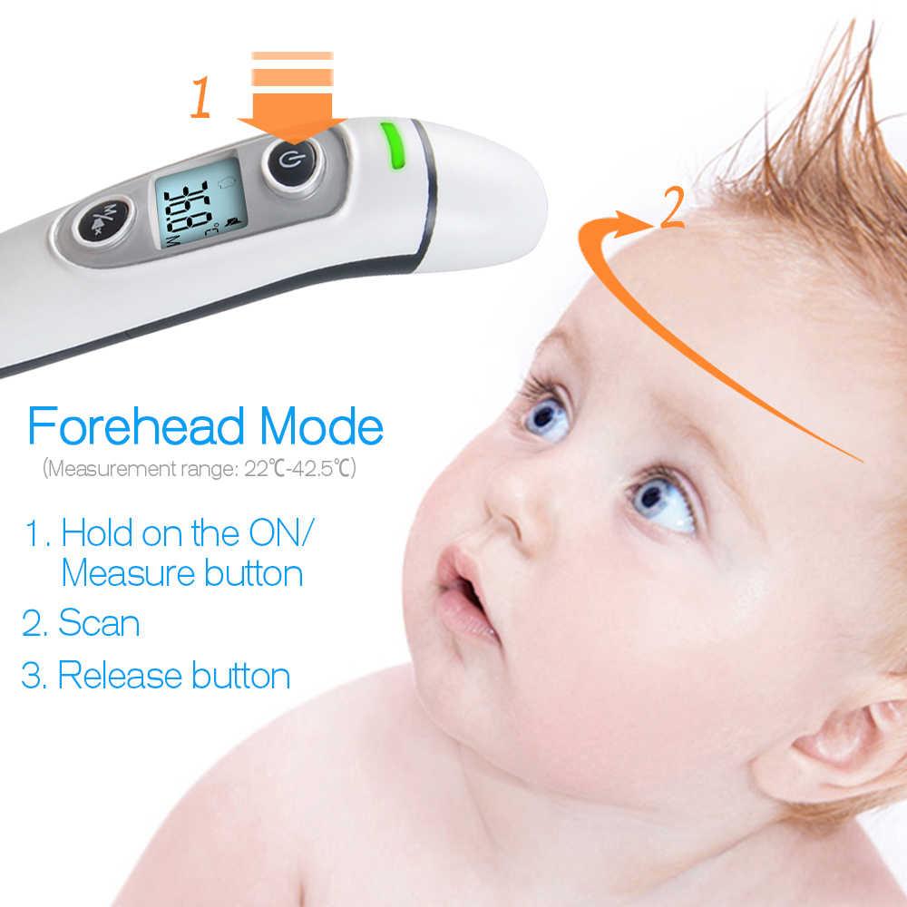 ELERA nouveau bébé thermomètre numérique infrarouge IR LCD bébé front et oreille sans Contact adulte mesure de la fièvre du corps Termometro