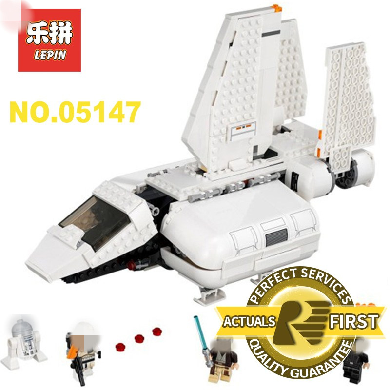 Lepin 05147 New Star Wars Compatible Legoing 75221 Imperial Landing Craft Model Building Blocks Educational Children Toys Gift