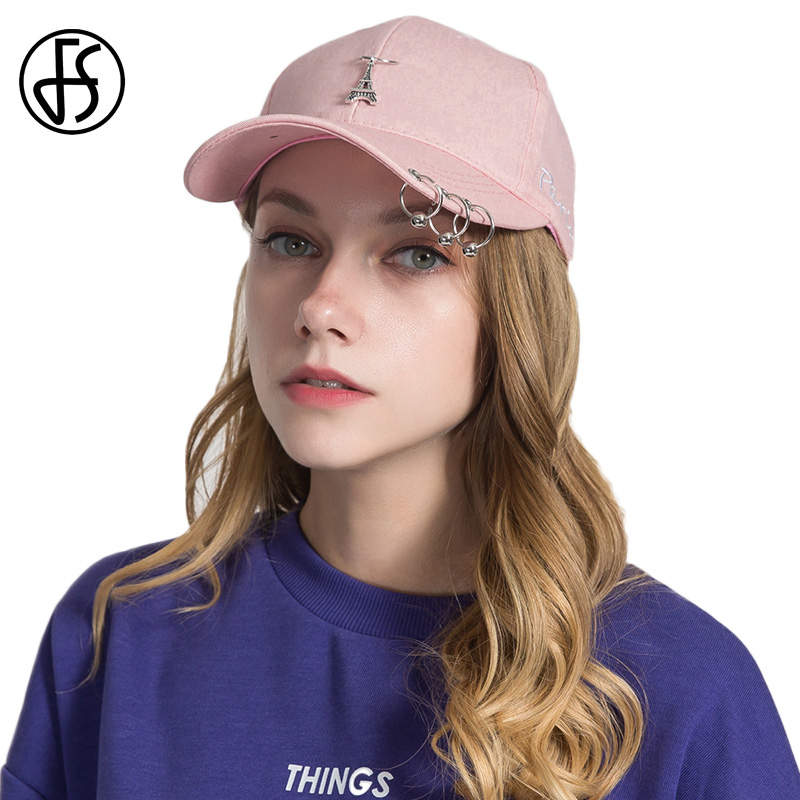 6cc32f71f7914b ... FS Korean Style Fashion Baseball Cap With Ring Women Adjustable  Snapback Hat Men Outdoor Caps Summer Sports Black Pink White. -11%. Click  to enlarge