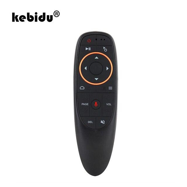 Kebidu G10 Bay Air Mouse 2.4GHz Không Dây Điều Khiển Từ Xa Mini G10s Cho Con Quay Hồi Chuyển Cảm Biến Trò Chơi Điều Khiển Bằng Giọng Nói Cho android Tv Box