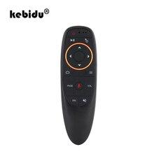 Беспроводной мини пульт дистанционного управления kebidu G10 Fly Air Mouse 2,4 ГГц для игр с гироскопом и голосовым управлением для ТВ приставки Android