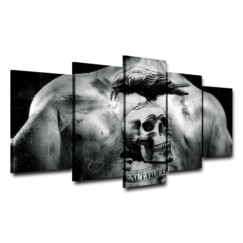 Tatuaje del cráneo impreso Decoración para el hogar enmarcado arte ...