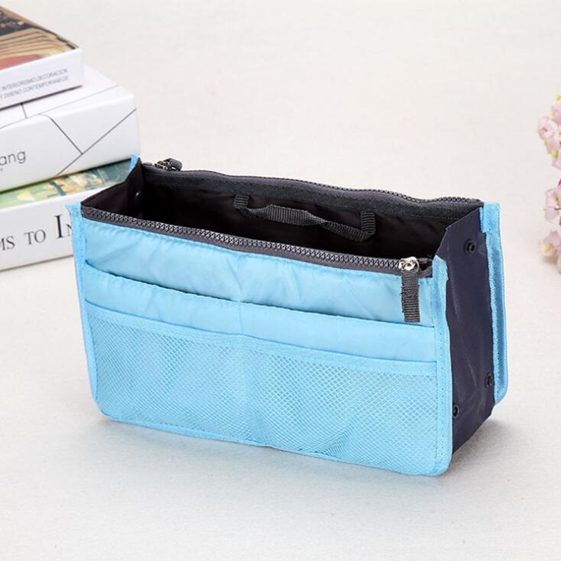New Fashion Polyester Multifunctional Women Cosmetic Bag Portable Storage Travel High Quality Makeup Bag new women fashion pu leather cosmetic bag high quality makeup box ladies toiletry bag lovely handbag pouch suitcase storage bag