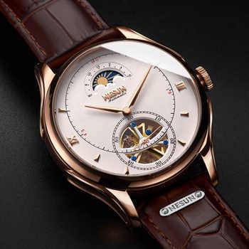 Montre mécanique automatique suisse NESUN Tourbillon montres Homme marque de luxe Montre squelette Montre saphir Montre Homme N9038