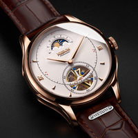 Automatic Mechanical Watch Men Switzerland Nesun Tourbillion Men's Watches Luxury Brand Skeleton Watch sapphire montre homme
