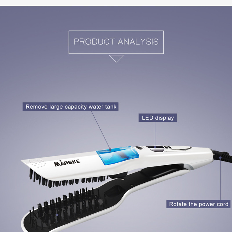 Professional Steam Hair Straightener Comb Brush Digital Control Ceramic Hair Iron Electric Hair Straightening Brush Styling Tool in Electric Hair Brushes from Home Appliances
