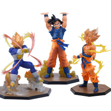 Anime Dragon Ball Z Zero Vegeta Son Goku Genki Dama Spirit Bomb Action Figure Toy DragonBall Super Saiyan Figures Brinquedos цена