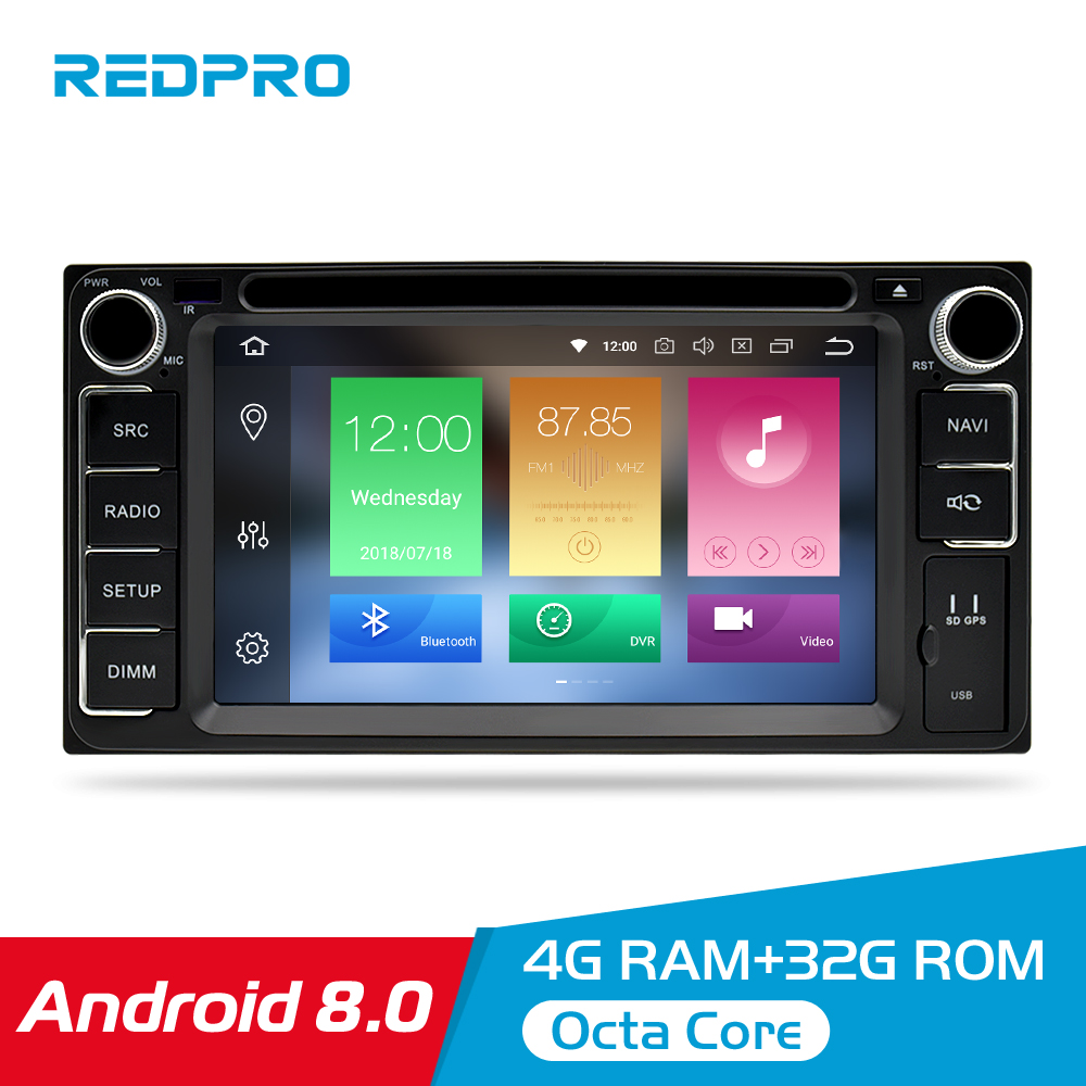 Universal Android 9.0 DVD GPS Navigation Radio Video Player Stereo 4G RAM+32G ROM 2 Din Wifi Bluetooth headunit Car Multimedia-in Car Multimedia Player from Automobiles & Motorcycles