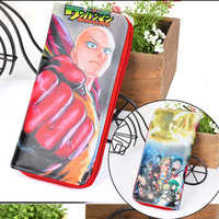 High Quality Cartoon Anime Cosplay One Punch Man Wallet Card Holder Zipper Purse Dollar Price 3 Styles 3