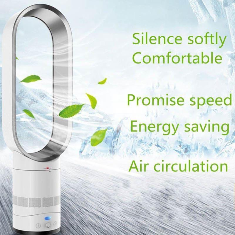 16 Inch Bladeless Fan Mute Remote Control Air Electric Fan Floor Bladeless Cooling Fan Portable Home Family Use EU/US/UK/ Plug electric fan stand fan home use mechanical desktop remote air blower timer mute household dormitory timing shekehead eu us plug