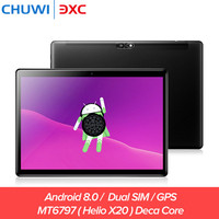 Chuwi Hi9 Air 4 г Dual SIM Tablet PC 10,1 дюймов Android 8,0 Helio X20 Дека Core 4 ГБ 64 ГБ Bluetooth 4,2 Телефонный звонок игры Планшеты