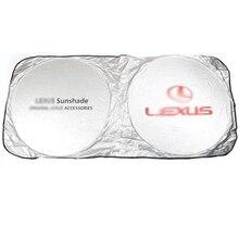 Mejor calidad protección UV coche para Lexus 150*70cm parte delantera de la ventana trasera película parabrisas Visor cubierta de coche sombrilla Accesorios
